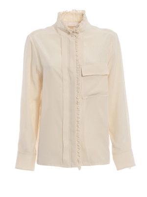 CHLOE': camicie - Camicia in crepe de chine color avorio