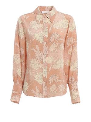 CHLOE': shirts - Patterned silk crepe de chine shirt
