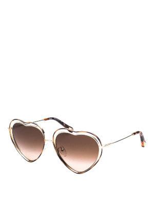 CHLOE': sunglasses - Poppy heart shaped sunglasses