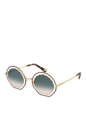 CHLOE': sunglasses - Scalloped gradient lens sunglasses