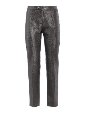 CHLOE': Pantaloni sartoriali - Pantaloni crop dritti in morbido lamé