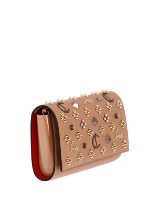 Christian Louboutin: clutches online - Paloma embellished leather clutch