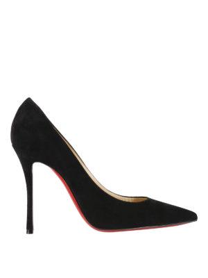 Christian Louboutin: court shoes - Black suede Decoltish pumps
