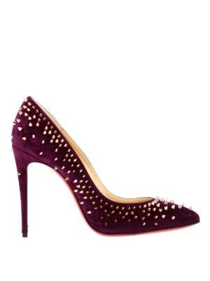 Christian Louboutin: court shoes - Escarpic suede studded pumps