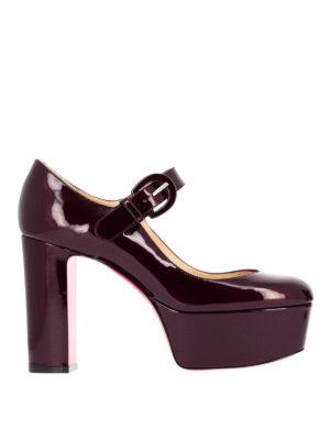 Christian Louboutin: court shoes - MJ Goes High patent platform pumps