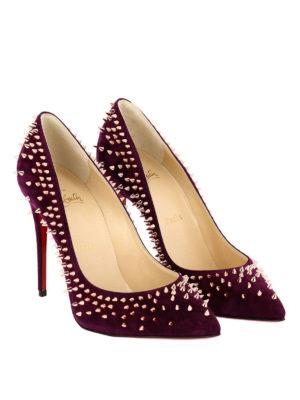 Christian Louboutin: court shoes online - Escarpic suede studded pumps