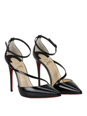 Christian Louboutin: court shoes online - Fliketta patent d'Orsay court shoes
