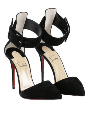 Christian Louboutin: court shoes online - Harler ankle cuffed suede pumps