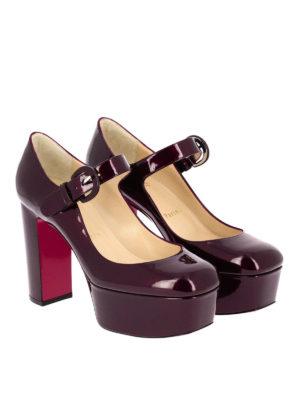 Christian Louboutin: court shoes online - MJ Goes High patent platform pumps