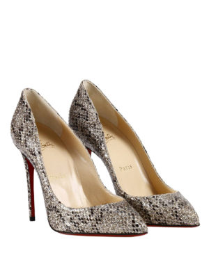 Christian Louboutin: court shoes online - Pigalle Follies ayers leather pumps