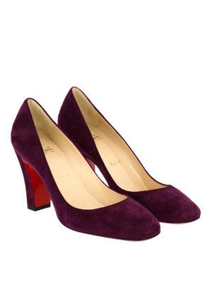 Christian Louboutin: court shoes online - Viva square toe suede pumps