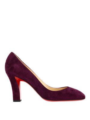 Christian Louboutin: court shoes - Viva square toe suede pumps