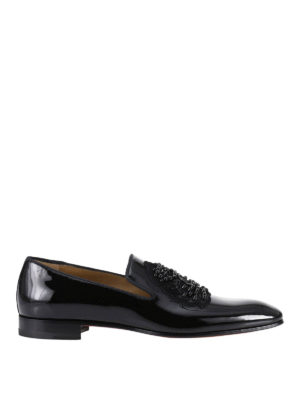 Christian Louboutin: Loafers & Slippers - Ecupump Flat patent loafers