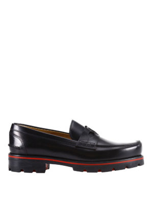 Christian Louboutin: Loafers & Slippers - Habsbour Tibour calfskin loafers
