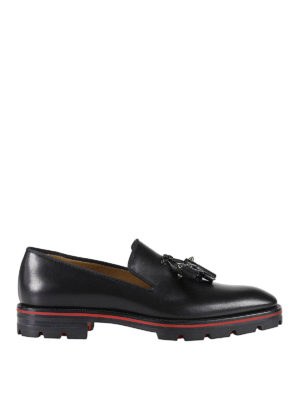 Christian Louboutin: Loafers & Slippers - Luglion Flat leather loafers