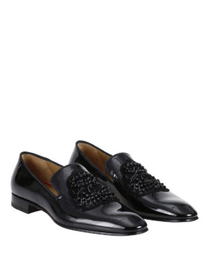 Christian Louboutin: Loafers & Slippers online - Ecupump Flat patent loafers