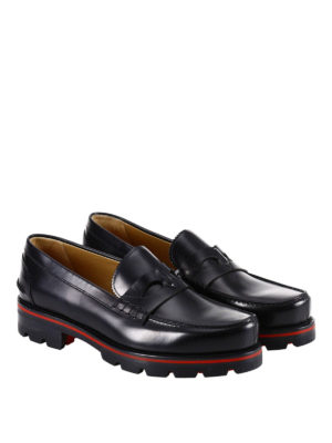 Christian Louboutin: Loafers & Slippers online - Habsbour Tibour calfskin loafers