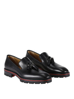 Christian Louboutin: Loafers & Slippers online - Luglion Flat leather loafers
