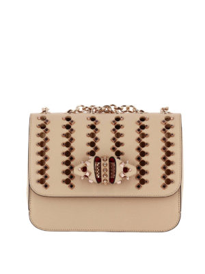 Christian Louboutin: shoulder bags - Sweet Charity Spikes medium bag