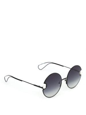 CHRISTOPHER KANE: occhiali da sole - Occhiali da sole tondi neri con perle