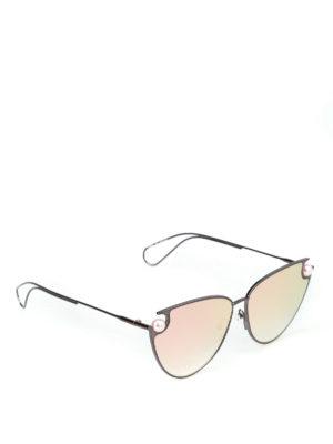 CHRISTOPHER KANE: occhiali da sole - Occhiali da sole a occhi di gatto con perle