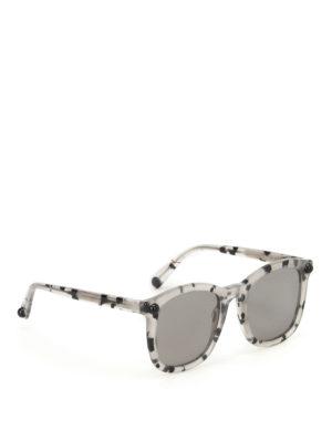Christopher Kane: sunglasses - Grey havana square sunglasses