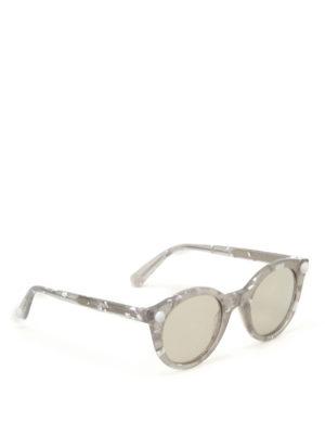 Christopher Kane: sunglasses - Havana round sunglasses