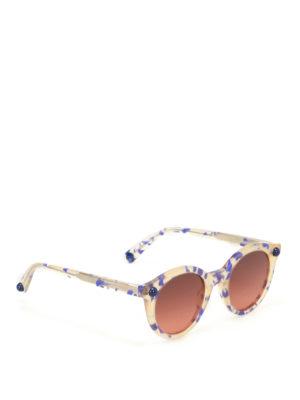 Christopher Kane: sunglasses - Havana rounded sunglasses