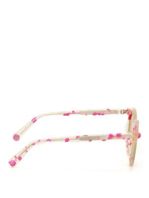 Christopher Kane: sunglasses online - Fuchsia havana round sunglasses