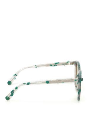 Christopher Kane: sunglasses online - Green havana square sunglasses