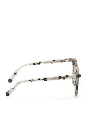 Christopher Kane: sunglasses online - Grey havana square sunglasses