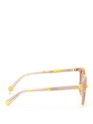 Christopher Kane: sunglasses online - Pink and yellow havana sunglasses