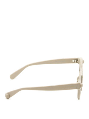 Christopher Kane: sunglasses online - Round shape light grey sunglasses