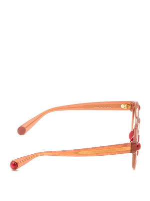 Christopher Kane: sunglasses online - Round shape tangerine sunglasses
