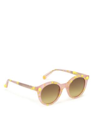 Christopher Kane: sunglasses - Pink and yellow havana sunglasses