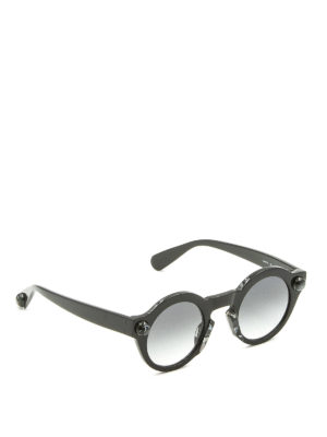 Christopher Kane: sunglasses - Round shape black sunglasses