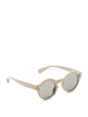 Christopher Kane: sunglasses - Round shape light grey sunglasses