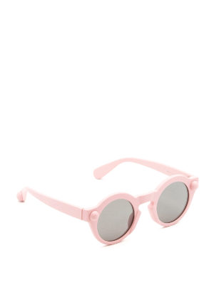 Christopher Kane: sunglasses - Round shape light pink sunglasses