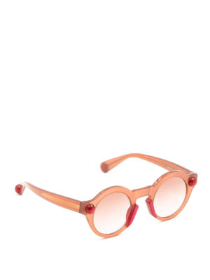 Christopher Kane: sunglasses - Round shape tangerine sunglasses