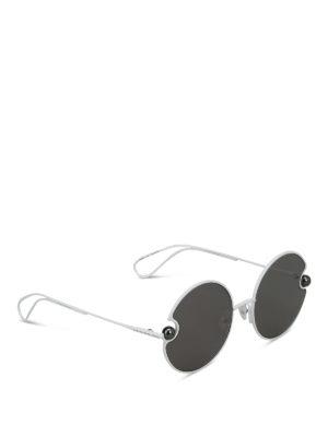 CHRISTOPHER KANE: occhiali da sole - Occhiali da sole tondi bianchi con perle