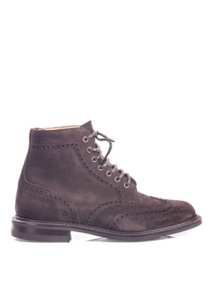 Church's: ankle boots - Caldecott suede brogue booties