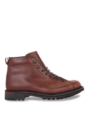 Church's: ankle boots - LEATHER ANKLES BOOTS WITH LUG SOLE