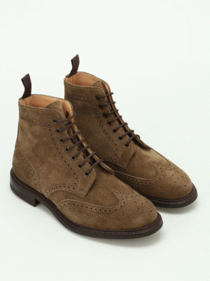 Church's: ankle boots online - Caldecott suede brogue booties