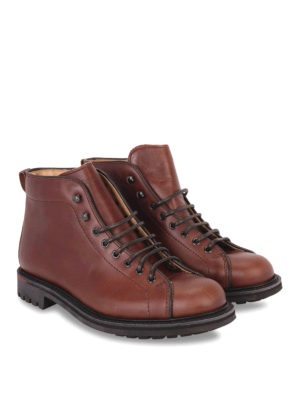 Church's: ankle boots online - LEATHER ANKLES BOOTS WITH LUG SOLE
