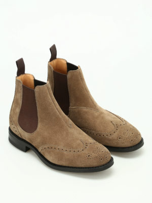 Church's: ankle boots online - Ravenflied suede brogue booties
