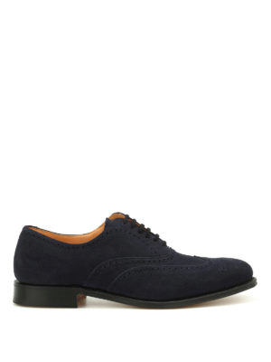 Church's: classic shoes - Berlin superbuck suede Oxford shoes
