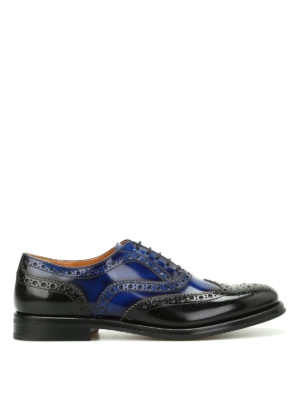 CHURCH'S: classiche - Oxford brogue Burwood bicolore