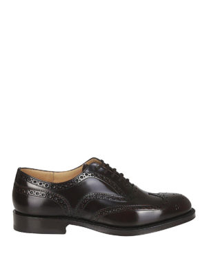 CHURCH'S: classiche - Oxford brogue Burwood marroni