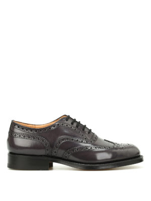 CHURCH'S: classiche - Oxford Burwood in pelle sfumata