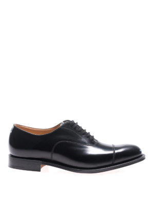 Church's: classic shoes - Dubai black leather Oxford shoes